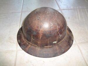 Details about Vintage old school Hard Hat Iron Worker, construction  worker,Miner Full Brim