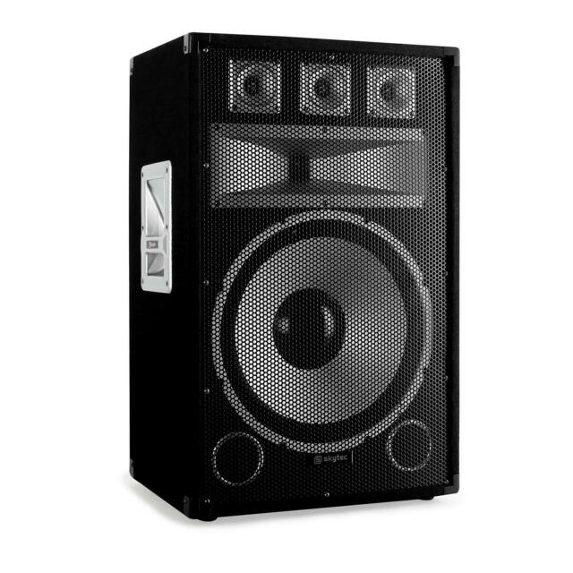 "ALTAVOZ PA WOOFER 38CM (15"") 250W RMS POTENCIA BAFLE DISCO TWEETER -B-Stock"