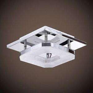 new square led acrylic chandelier ceiling light fixture flush mount cold white. Black Bedroom Furniture Sets. Home Design Ideas