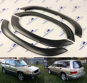 Subaru-Forester-Fender-Bengalas-Rueda-Arco-Protector-JDM-se-puede-pintar-Borde-Negro-6-un