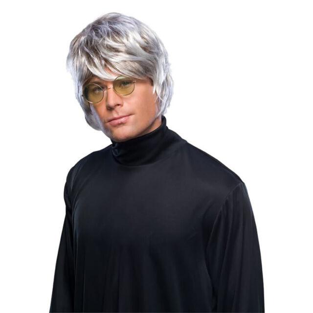 60/'s and 70/'s Mod Guy Black Men/'s Costume Wig