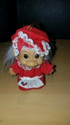 "MRS CLAUS CHRISTMAS GRANDMA 3/"" Russ Troll Doll NEW IN ORIGINAL WRAPPER"