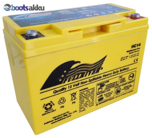 Odyssey PC545 GENESIS 12EP13 FULLRIVER HC14B AGM Akku Batterie 12V 14Ah w
