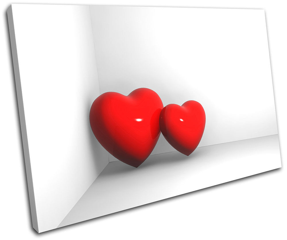 Hearts in LONA Corner Love SINGLE LONA in pared arte Foto impresion 108e87