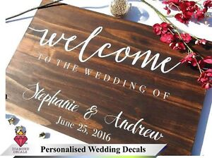 Personalise-Wedding-Sign-Custom-Venue-Welcome-Decor-Notice-Sticker-Vinyl-Decal-5