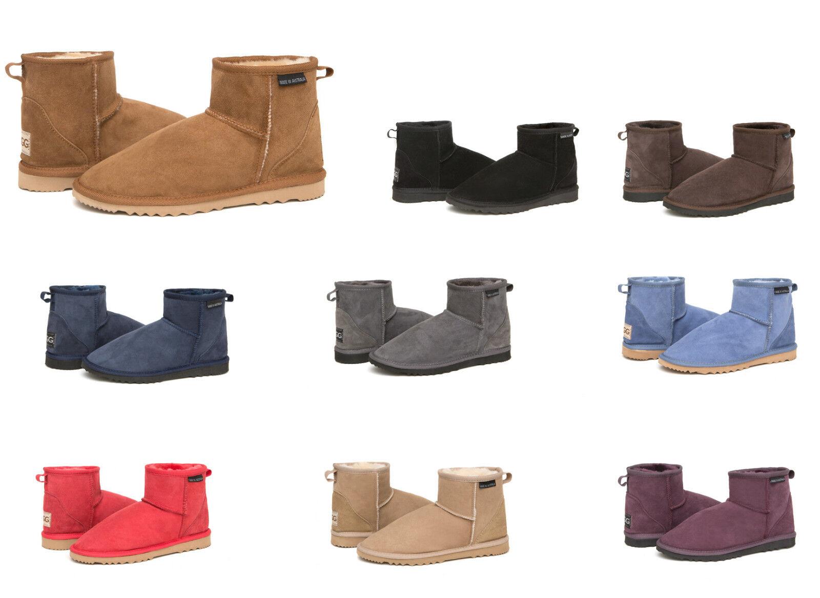 Mini bottes classiques en peau de mouton australienne de première qualité - 13 couleurs