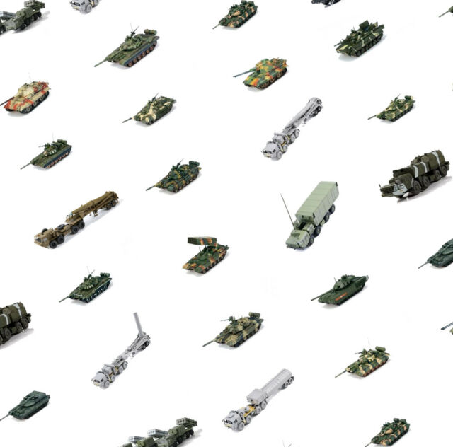 ModelCollect tanks and military vehicles - 1:72 model kits, pack 2 (34 models)