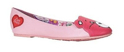 IRON FIST CAREBEARS STARE PINK CARE BEAR HEART FLATS SHOES WOMENS SIZE 7-10