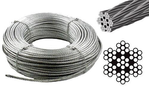 50m Drahtseil 5,0mm EDELSTAHL 7x7 Stahlseil Windenseil Seil Draht Rostfrei Niro