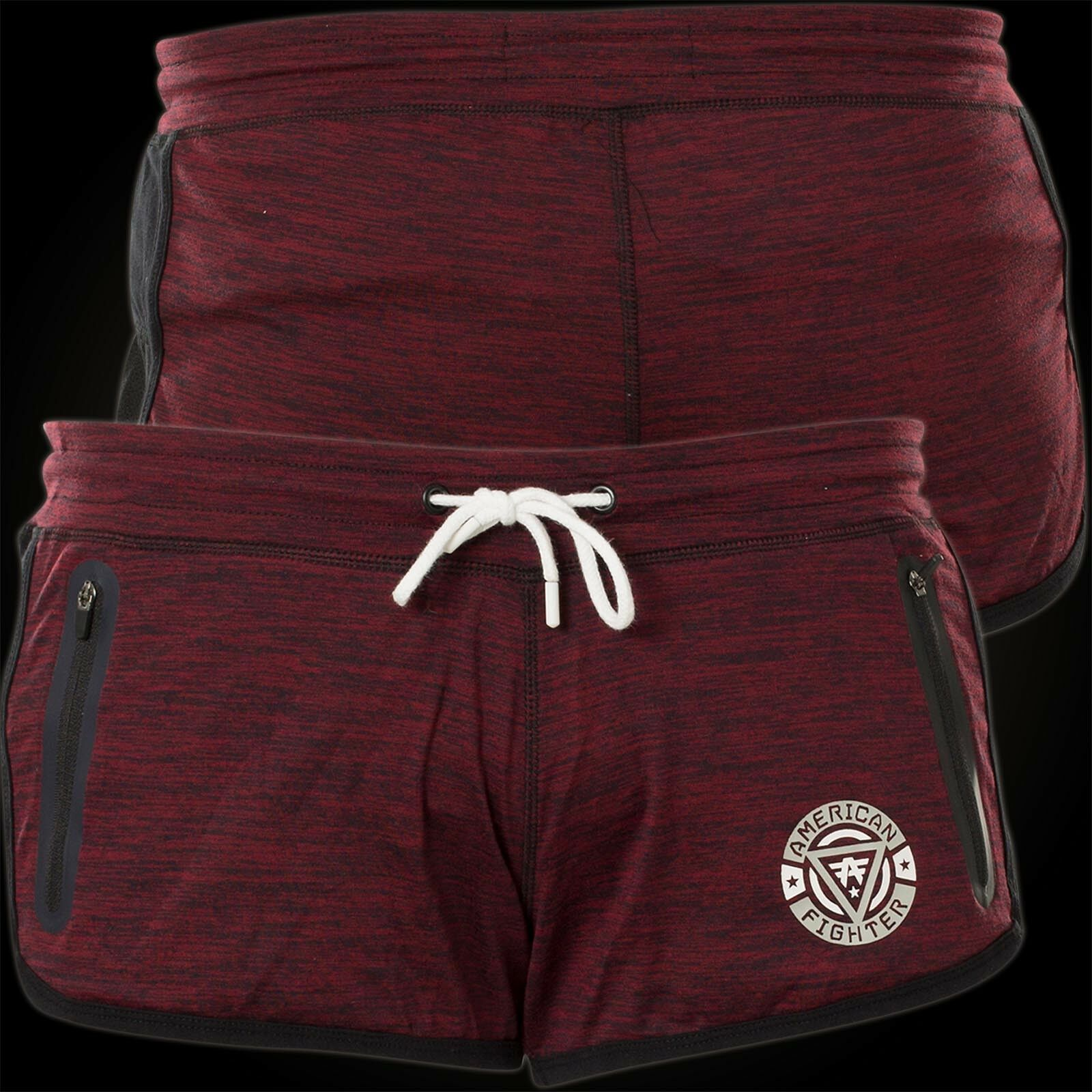 American Fighter by Affliction Woman Shorts Go The Distance Wine red