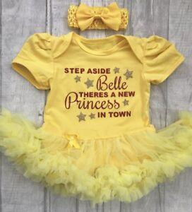 221d41557 BABY GIRL'S DISNEY BELLE NEWBORN PRINCESS Tutu Romper Dress Present ...