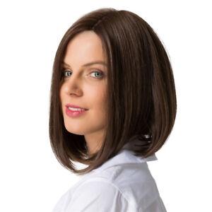 Details Zu 14 Zoll Frauen Dame Kurze Glatte Haare Volle Perücken Cosplay Party Bob