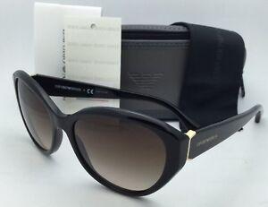 0a259419eb58 New EMPORIO ARMANI Sunglasses EA 4037 5017/13 Black & Gold w/Brown ...