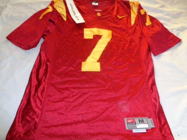 da84198ba Authentic Nike USC Trojans  7 Football Jersey size Medium ADULT Cardinal  NCAA