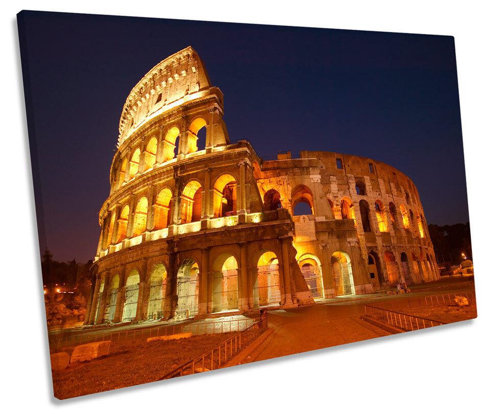 Roma Coliseo Landmark SINGLE LONA LONA LONA parojo arte Foto impresión b5d81f