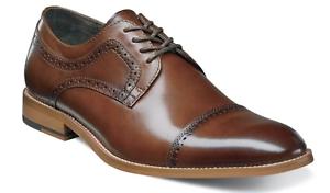 Men/'s Shoes Stacy Adams Dickinson Cap Toe Oxford Cognac Leather 25066-221