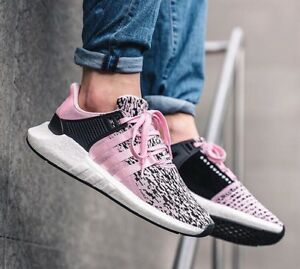 factory authentic 9e512 f7988 Image is loading Adidas-Equipment-EQT-Support-Boost-93-17-PINK-