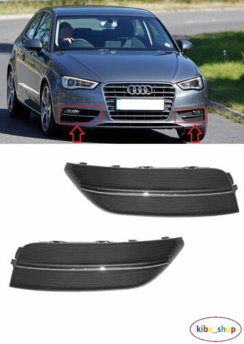 AUDI A3 2012-2016 NEW FRONT BUMPER FOG LIGHT LAMP COVER GRILLES LEFT RIGHT
