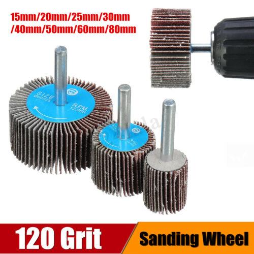 120 Grit Sanding Flap Wheel Polishing Grinding Rotary Drill Tool Disc 15-80mm