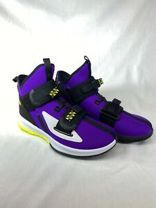 Nike-Lebron-Soldier-13-XIII-SFG-Men-Size-7-5-Purple-Lakers-Basketball-Sneakers