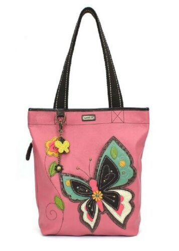 de sintética mariposa hermosa Zip Bolso piel Purse Everyday Chala Tote Ii Oa78qpCw