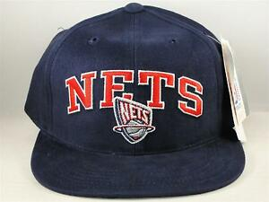 ac92a12c0b6 Kids Youth Size NBA New Jersey Nets Vintage Snapback Hat Cap Navy