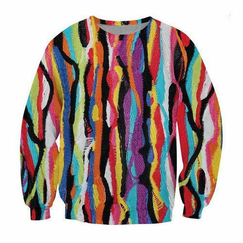 New Womens//Mens Colorful Tie-dye Funny 3D Print Casual Sweatshirt Hoodies Tops