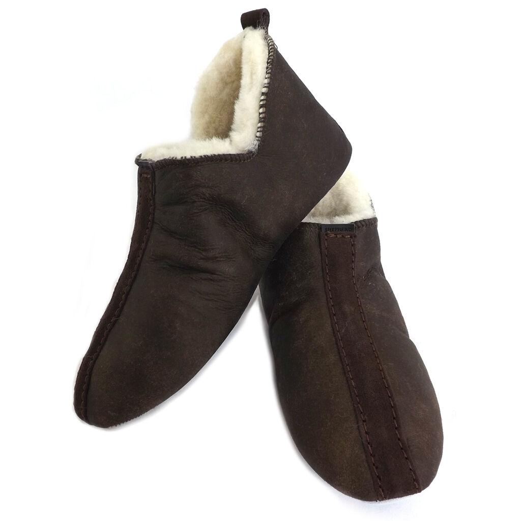 Zapatilla Antiguo de piel de oveja suela dura pastor señoras-Lina-engrasado Antiguo Zapatilla c765ed