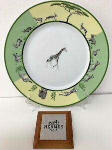 Hermes-Africa-Vert-Assiette-Plate-Hermes-Africa-Vert-Plat-Girafe-Hermes