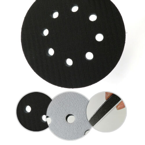 5 8Holes Soft Interface Cushion Pad 125mm Hook And Loop Backing Sanding Disc A