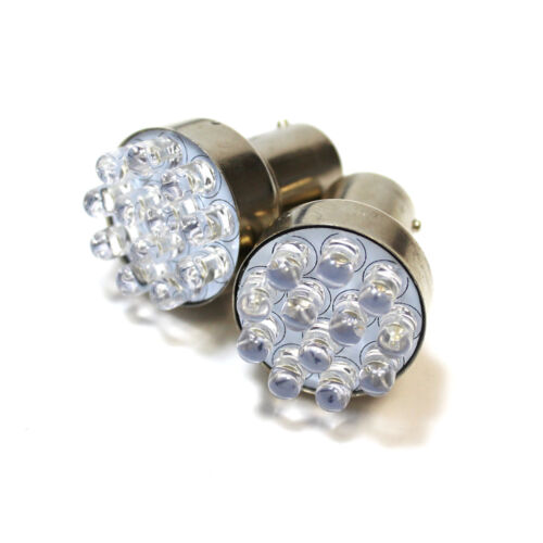 2x Bright Xenon White LED Upgrade Number Plate Licence Light Bulbs
