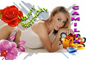 Image Is Loading KYLIE MINOGUE Personalised Birthday Greeting Card A5 Friend