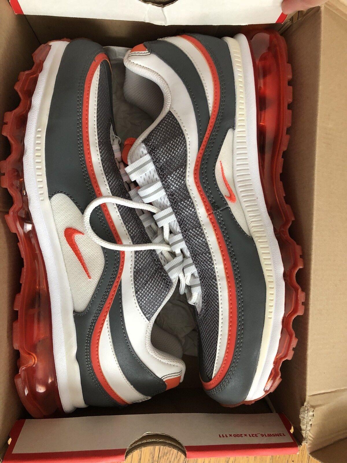 New Nike Grey Air Max 24-7 White Team Orange Dark Grey Nike 397252-101 Size 10 c545f0