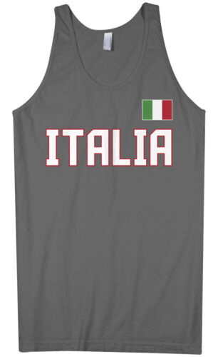 Threadrock Men/'s Italia National Team Tank Top Italy Soccer