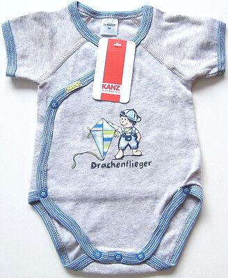 Wickel Body Gr.44 Kanz NEU m.E 100% Baumwolle Drachenflieger grau baby frühchen