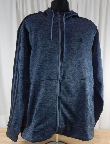 USED Mens Adidas Climawarm Full Zip Fleece Lined Hooded Hoodie Jacket