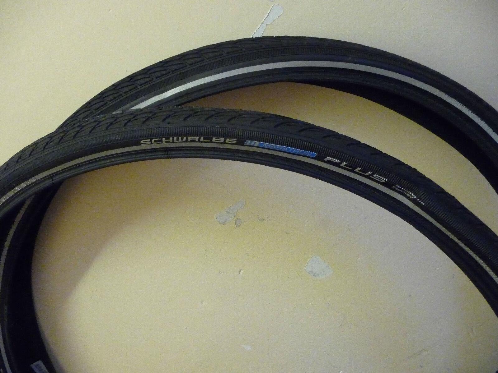 Schwalbe Marathon PLUS Cycle Bike Tyres 700 x 38c PAIR NEW Puncture Predection
