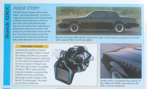 Buick GNX Road Test Brochure Ford Mustang Cobra vs