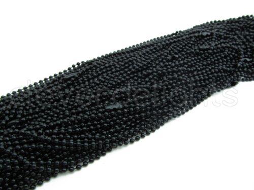 "5 Dark Black Ball Chain Necklaces 24 Inch Pendants Dog Tag Bottle Cap 24/"""