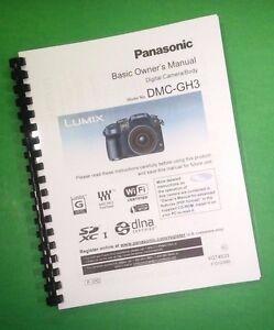 laser printed panasonic dmc gh3 basic camera 104 page owners manual rh ebay com Panasonic Cordless Phone KX-TG155SK User Manual Panasonic Technical Support