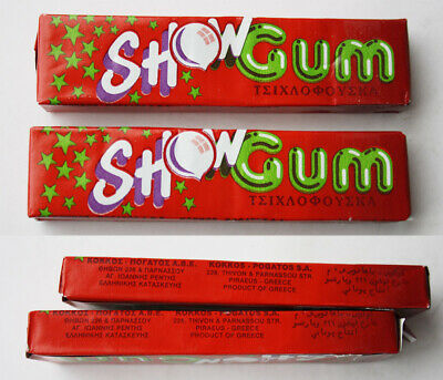 2X RARE MEGA BIG BABOL STRAWBERRY CHEWING GUM PACKS PERFETTI NEW SEALED NOS !