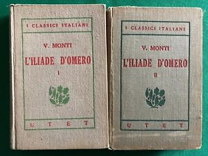 Vincenzo-Monti-L-Iliade-d-Omero-1921-Utet-2-volumi