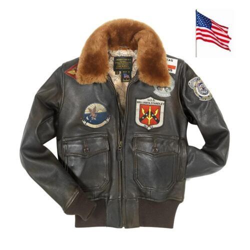 Made Navy G Top Usa M Woman In leren 1 Xl jas Aviator Gun zB44fnA