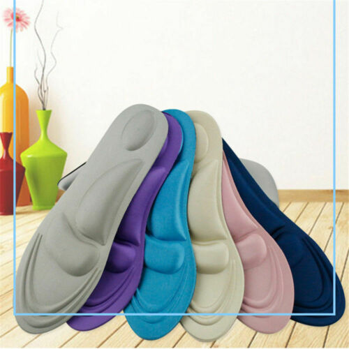 4D Orthotic Flat Foot Arch Heel Support Shoe Inserts-Pain Relief Insoles Pad