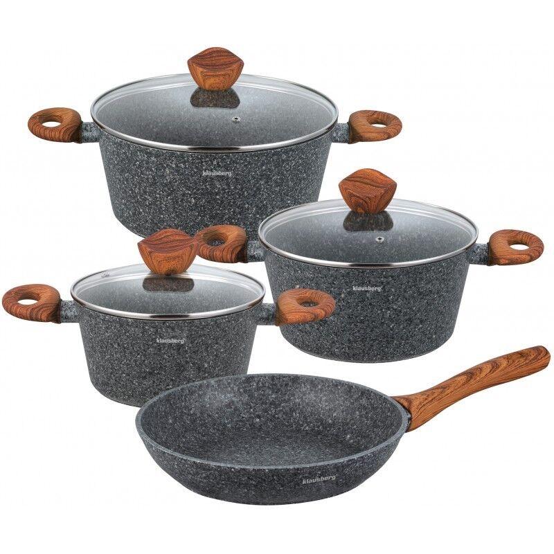 Cookware Set 7-PCS Pot Pan Couvercle Poêle Induction Plaque de cuisson au gaz GB Klausberg KB-7240