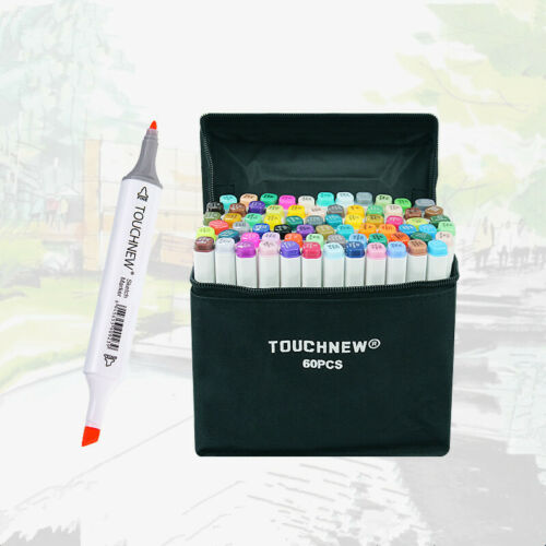 80 Markers Hand Painted Manga Drawing Markers Pen Alcohol Based Sketch Oily Twin