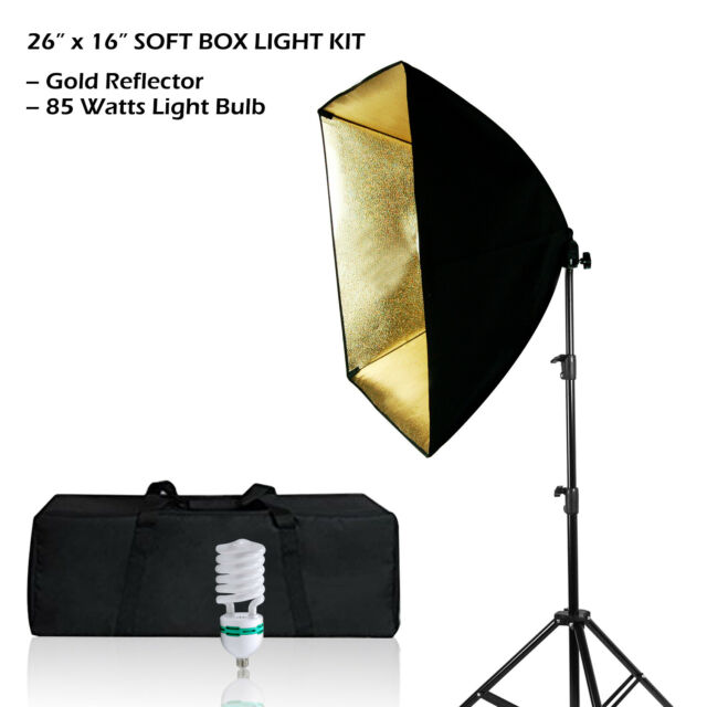 24 Square Photography Soft Box Photo Studio Reflector Continuous Lighting