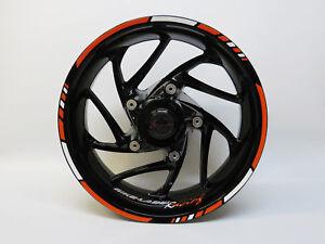 LISERET AUTOCOLLANT Set 710023 Racing Orange Bike Car Design 16,17,18 pouces  </span>