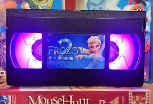 Image Is Loading Frozen 2 Elsa Retro VHS Night Light Desk