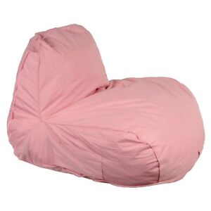 Image Is Loading Bean Bag Lazy Lounger Pink Beanbag Relax Chair